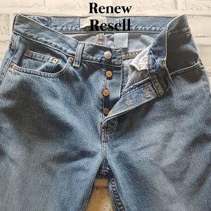 GAP Button Front Bootcut Denim Jeans